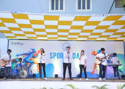 St Mary's junior college Sports day celebrations band performance by students